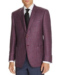 Canali Micro Check Classic Fit Sport Coat Red Blue