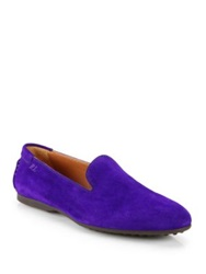 Ralph Lauren Von Suede Slip Ons Bright Purple