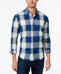 Tommy Hilfiger Men's Long Sleeve Clean Intrepid Check Shirt Indigo White