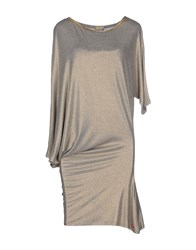 Met Dresses Short Dresses Women Light Grey