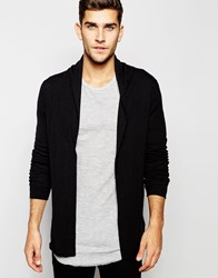 Selected Homme Open Drapey Cardigan Black