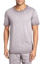 Daniel Buchler Men's Vintage Wash Cotton T Shirt Grey