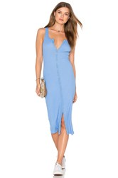 Lacausa Button Rib Dress Blue