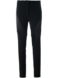 Ann Demeulemeester Contrast Panel Skinny Trousers Black