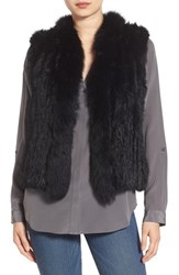 La Fiorentina Women's Genuine Rabbit And Fox Fur Vest