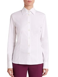 Escada Embellished Button Front Shirt White