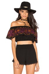 Nightcap Corfu Crop Top Black