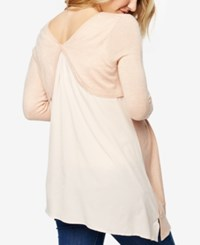 A Pea In The Pod Maternity Cross Back Sweater Cameo Rose