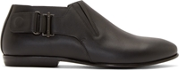 Lanvin Black Leather Low Ankle Boots