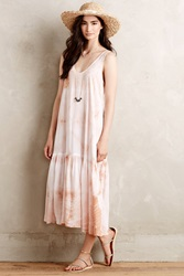 Porridge Crystal Cove Dress Neutral Motif
