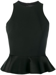 David Koma Peplum Hem Top Black