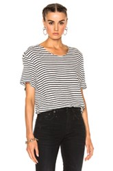 R 13 R13 Striped Rosie Tee In Black Stripes White Black Stripes White