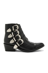 Toga Pulla Buckled Leather Bootie Black