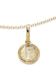 Ippolita Clear Quartz And 18K Yellow Gold Plated Necklace
