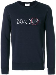 Dondup Logo Sweatshirt Cotton Blue