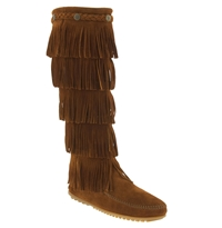 Minnetonka '5 Layer Fringe' Boot Brown