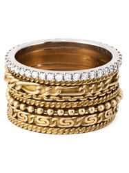 Wouters And Hendrix Gold Set Of 8 Stacking Rings Metallic