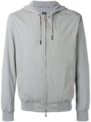 Eleventy Zip Hooded Jacket Grey
