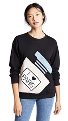 Michaela Buerger I Love Paris Perfume Bottle Sweatshirt Black