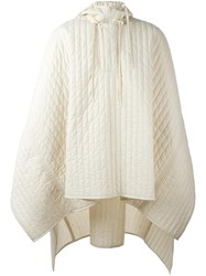 Craig Green Quilted Hooded Poncho Nude Neutrals