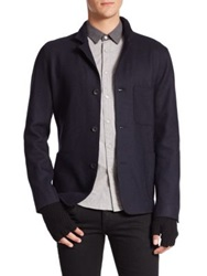Rag And Bone Kenyon Wool Blend Jacket Navy