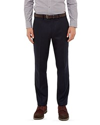 Ted Baker Austro Wool Blend Regular Fit Trousers Navy