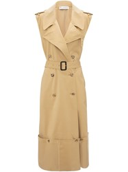 J.W.Anderson Jw Anderson Fold Up Hem Sleeveless Trench Coat Brown