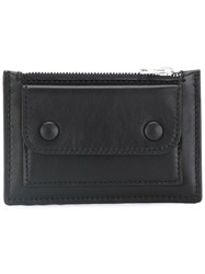 Ami Alexandre Mattiussi Zipped Cardholder Wallet Men Leather One Size Black