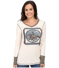 Double D Ranchwear Gaucho And His Horse Tee String Women's T Shirt Neutral