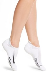 Nike Women's Elite No Show Running Socks White Black