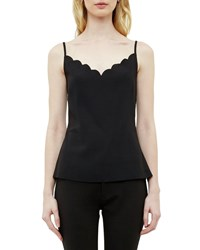 Ted Baker Siina Scallop Detail Camisole Black