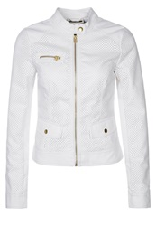Noisy May Pretty Faux Leather Jacket White