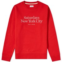 Saturdays Surf Nyc Bowery Miller Standard Embroidered Crew Sweat