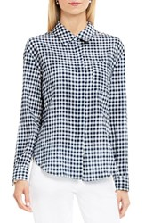 Vince Camuto Women's Two By Gingham Textured Utility Shirt
