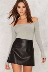 Nasty Gal Collection Turn Up The Night Vegan Leather Skirt Black
