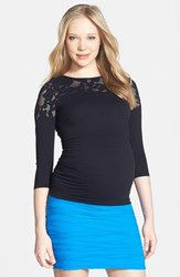 Tees By Tina Women's Crochet Maternity Top
