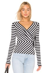 Bailey 44 Toe The Line Rib Stripe Top Navy