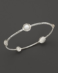 Ippolita Sterling Silver Wonderland 5 Stone Bangle In Mother Of Pearl
