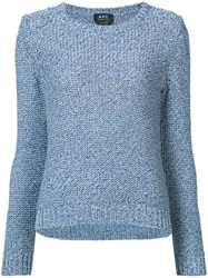A.P.C. Tweed Jumper Blue
