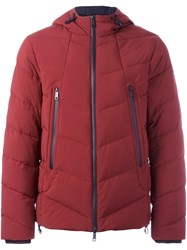 Armani Jeans Hooded Zipped Jacket Red