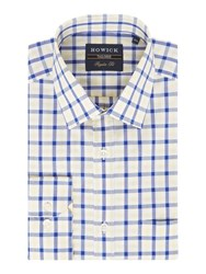 Howick Men's Tailored Cedar Gingham Shirt Yellow