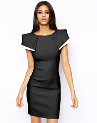 Vesper Sexy Pencil Dress With Origami Sleeve