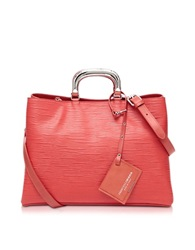 Francesco Biasia Barbican Embossed Leather Handbag Red