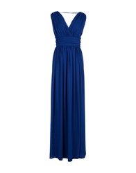 Carla Montanarini Long Dresses Blue