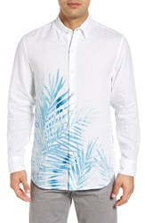 Tommy Bahama Men's Big And Tall Fo' Rio Fronds Linen Shirt