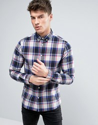 Solid Checked Shirt In Regular Fit 1025 Blue