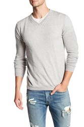 Autumn Cashmere Cable Knit Sweater Gray