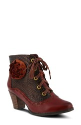 L Artiste Women's L'artiste Sufi Bootie Bordeaux Leather