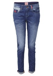 Superdry Blue Tomboy Relaxed Fit Jeans Surf Wash Blue Denim