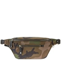 Valentino Camo Vltn Large Nylon Waist Bag Green